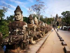 Smiling Gods at Angkor Thom