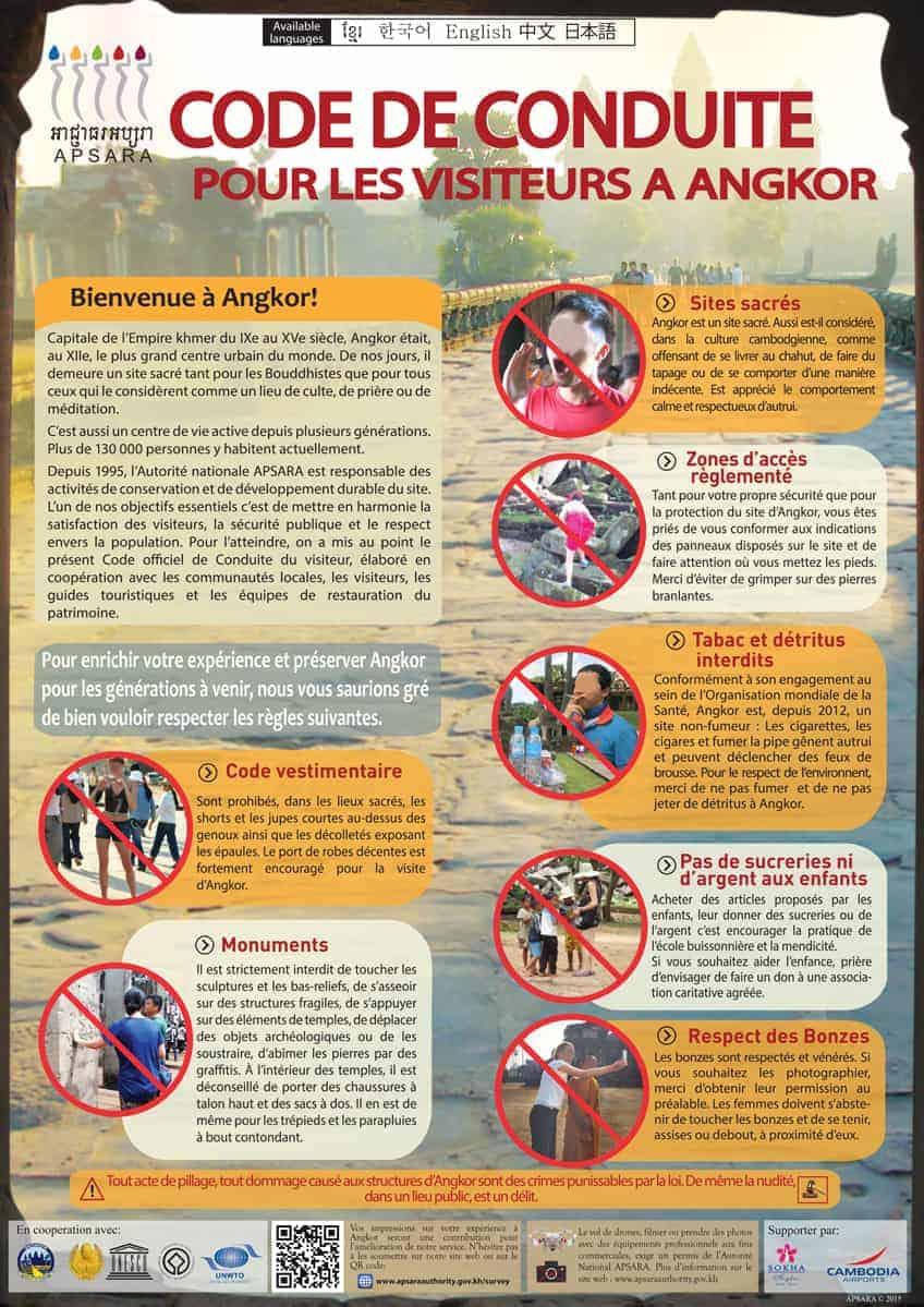 Angkor Code of Conduct - French
