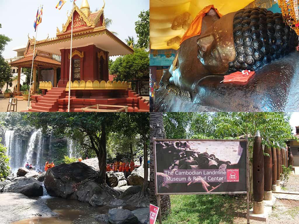 Phnom Kulen, Landmine Museum and Killing Fields Tour